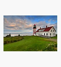 West Quoddy Light - Maine Photographic Print