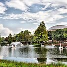 Swan Boats On The Lagoon by Glenna Walker