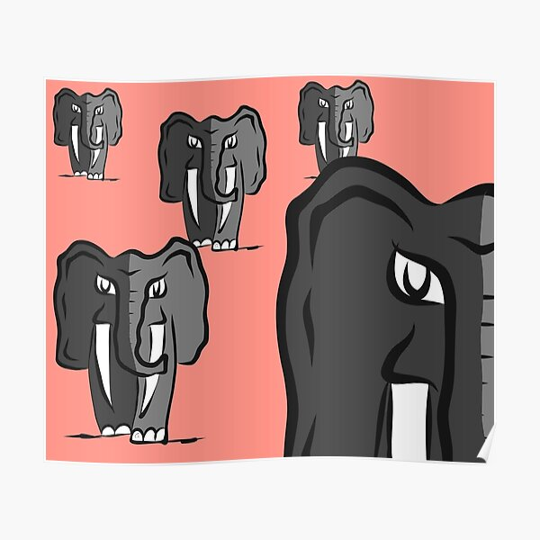 Silhouettes Of Elephant Family, Simple Vector Illustration. Isolated..  Royalty Free Cliparts, Vectors, And Stock Illustration. Image 65003996.