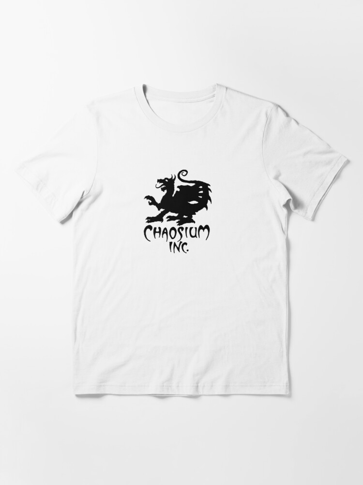 Alternate view of Official Chaosium Inc. Logo (Black) Essential T-Shirt