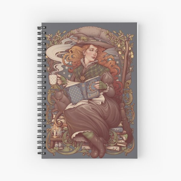 NOUVEAU FOLK WITCH Spiral Notebook