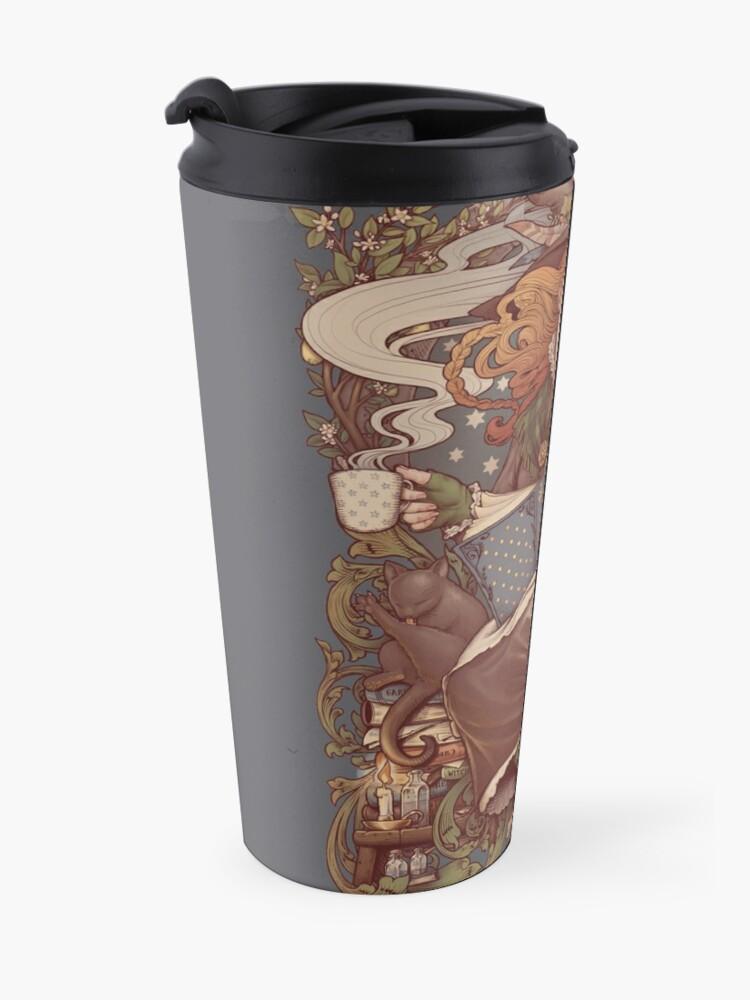 Alternate view of NOUVEAU FOLK WITCH Travel Mug