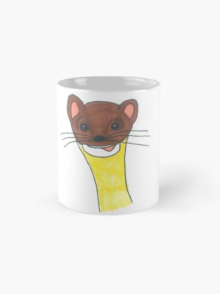 Alternate view of Dippy Weasel Mug