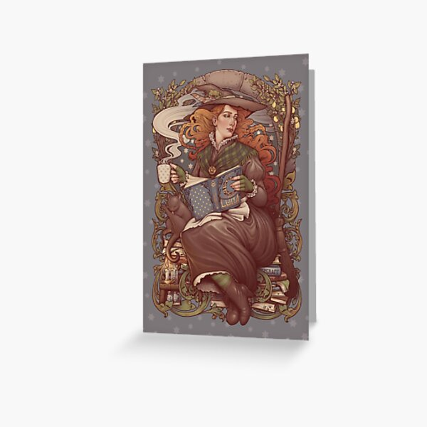 NOUVEAU FOLK WITCH Greeting Card