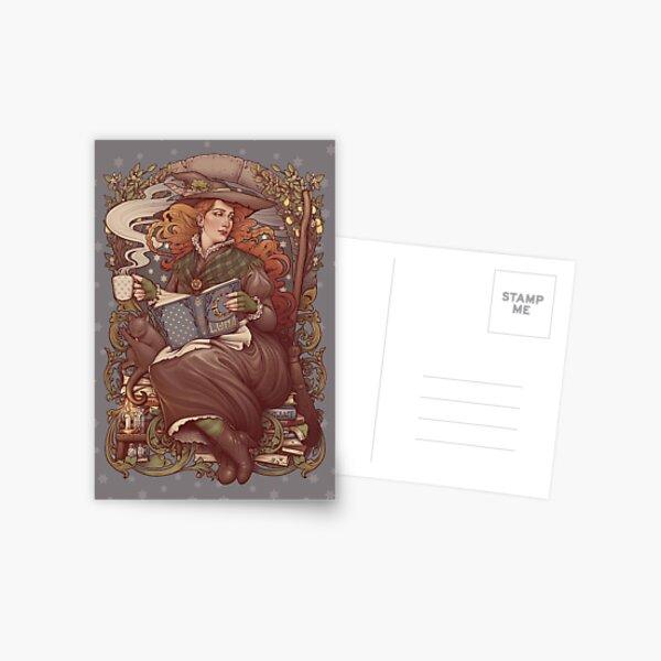 NOUVEAU FOLK WITCH Postcard