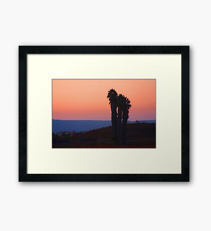 San Diego Sunset Framed Print