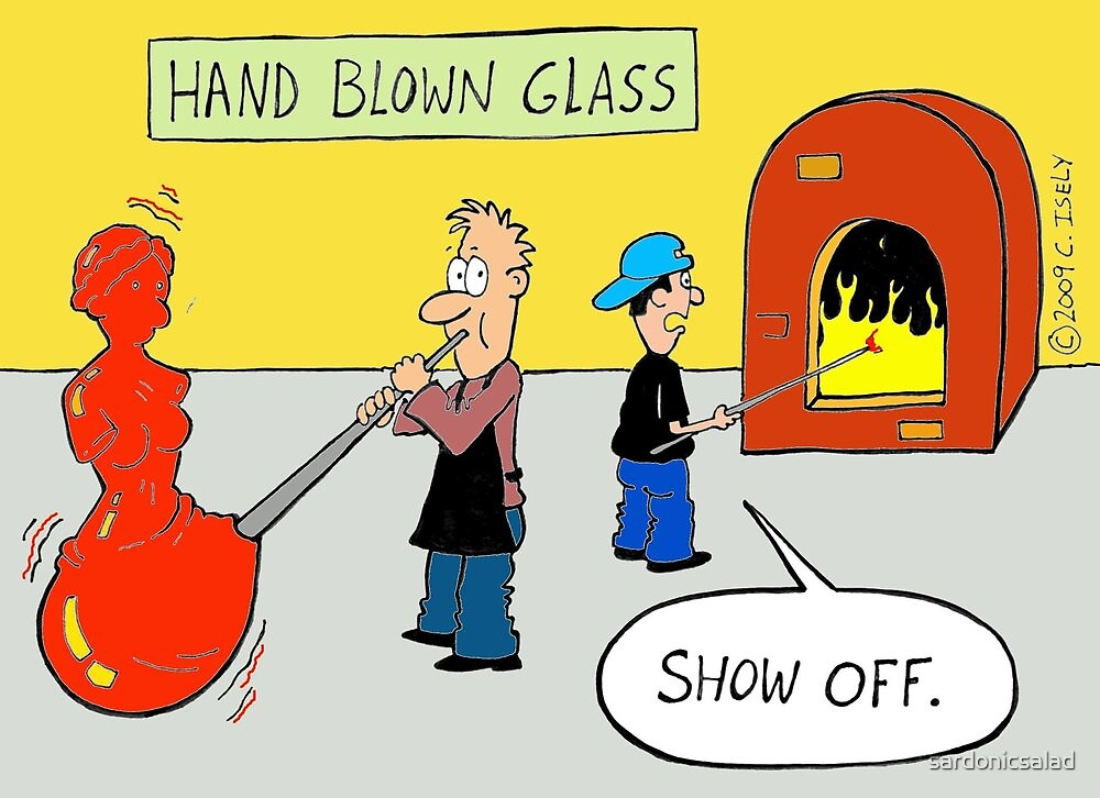 hand blown glass by sardonicsalad