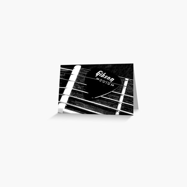 The Pick - Black and White Greeting Card