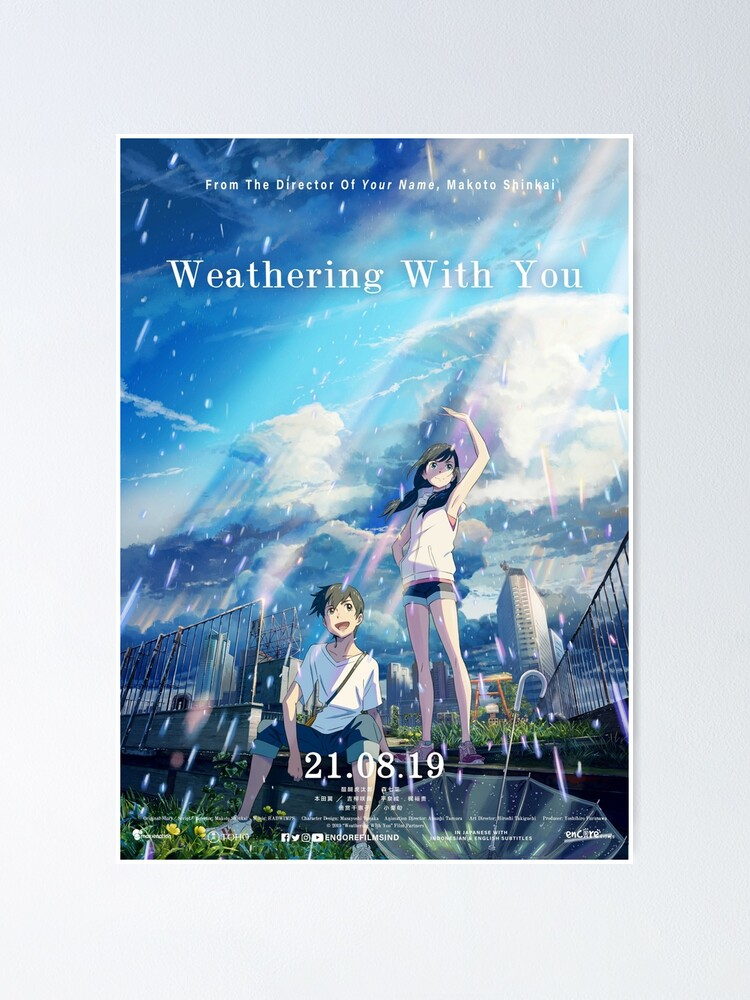 Weathering With You Poster By Hiphopboys Redbubble