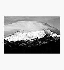 Mt. Baker Sunrise (Black and White) Photographic Print