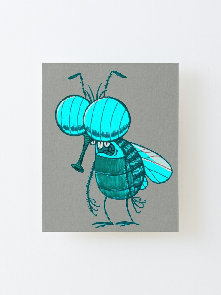 Alternate view of Morning Fly Mounted Print