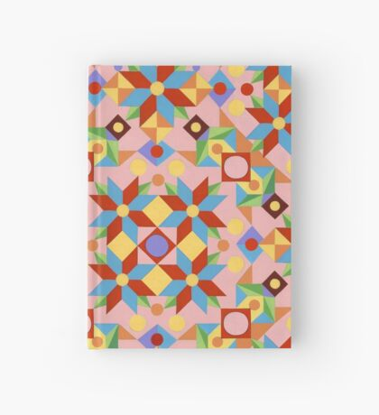 Pink Rolling Star Quilt Design Hardcover Journal