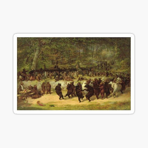William Holbrook Beard - The Bear Dance Sticker