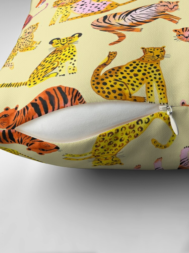 Alternate view of Tigers and Leopards Africa Savannah Floor Pillow
