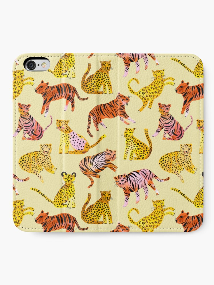 Alternate view of Tigers and Leopards Africa Savannah iPhone Wallet