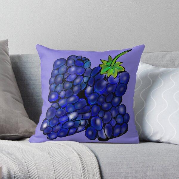 Summer Blackberries Throw Pillow