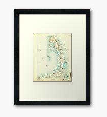 Massachusetts  USGS Historical Topo Map MA Wellfleet 353102 1893 62500 Framed Print