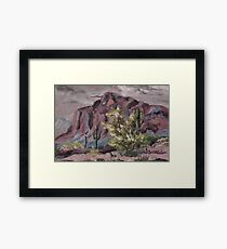 A Desert Scene, too - oil paint Framed Print