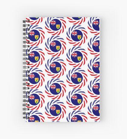Turks & Caicos Islander American Multinational Patriot Flag Series Spiral Notebook