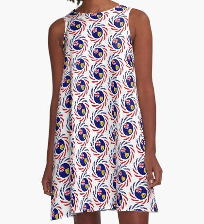Turks & Caicos Islander American Multinational Patriot Flag Series A-Line Dress