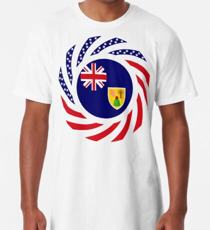 Turks & Caicos Islander American Multinational Patriot Flag Series Long T-Shirt