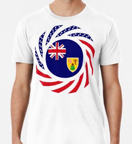 Turks & Caicos Islander American Multinational Patriot Flag Series Premium T-Shirt