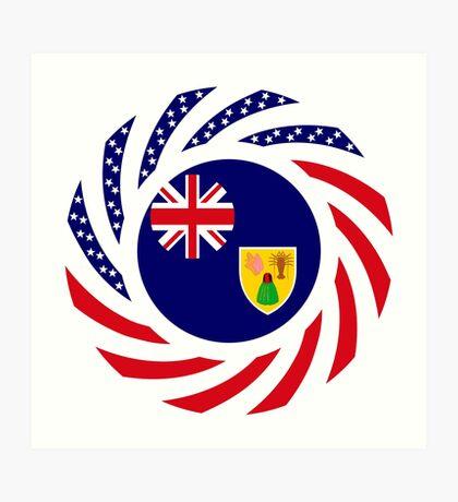 Turks & Caicos Islander American Multinational Patriot Flag Series Art Print
