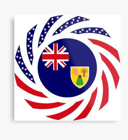 Turks & Caicos Islander American Multinational Patriot Flag Series Metal Print