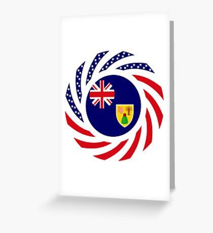Turks & Caicos Islander American Multinational Patriot Flag Series Greeting Card