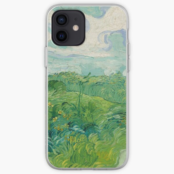 Green Wheat Fields, Auvers, Vincent van Gogh iPhone Soft Case