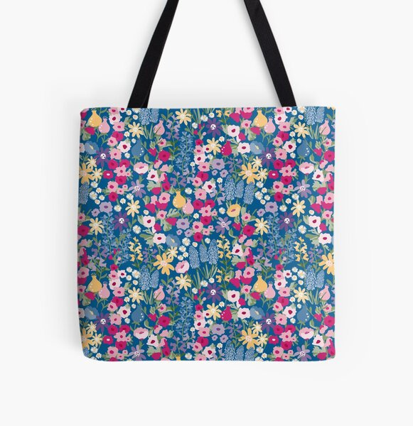 Pretty Cottage Garden pattern All Over Print Tote Bag