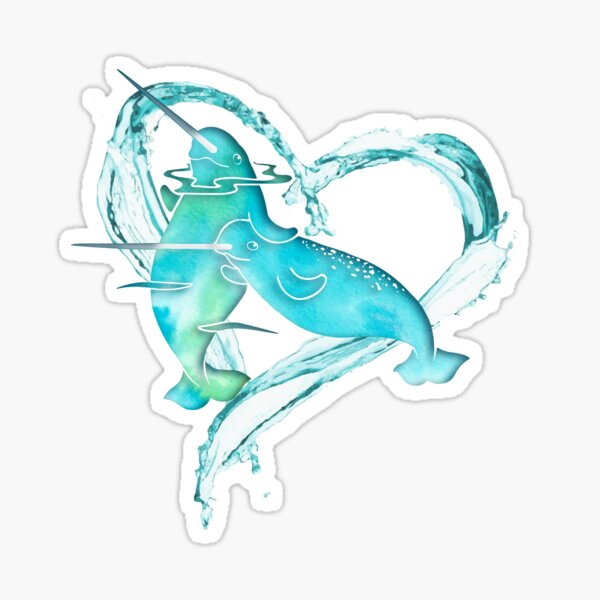 I Love Narwhals Sticker