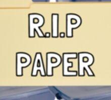 R.I.P Paper Sticker