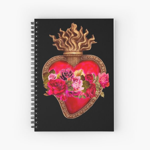 Red Immaculate Heart - Sacred Heart Spiral Notebook