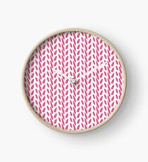 Contemporary Pink Print Clock