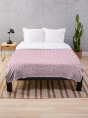 Contemporary Pink Print Throw Blanket