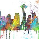 Seattle, Washington Skyline von Marlene Watson