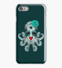Blue Day of the Dead Sugar Skull Baby Octopus iPhone Case/Skin