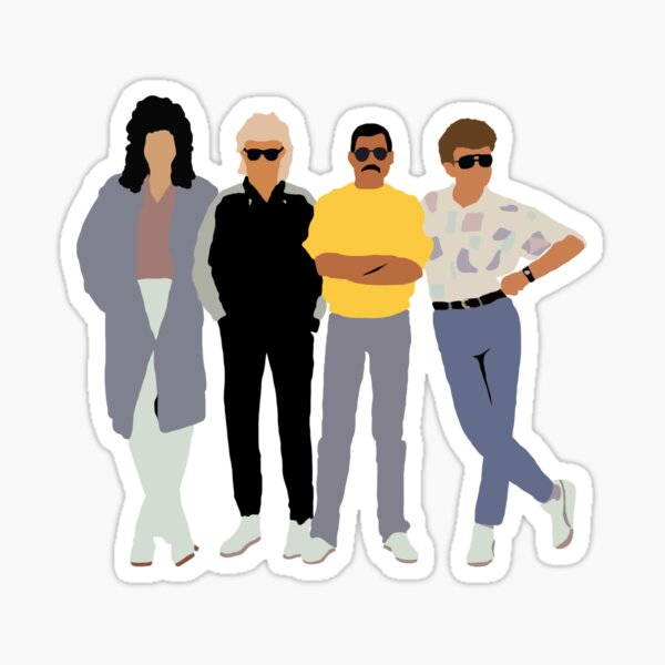 queen in the 80s Sticker