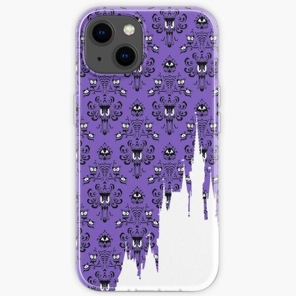 Magic Castle Silhouette Haunted Mansion Wallpaper iPhone Soft Case