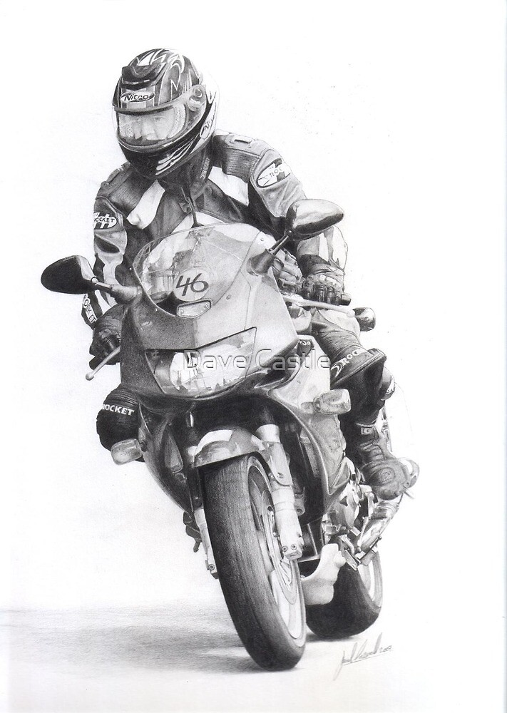 (Drawing) Brans Track Day by Dave Castle