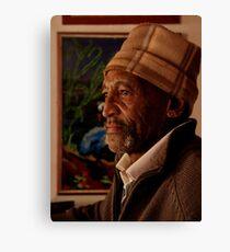 Portrait of an artist Canvas Print