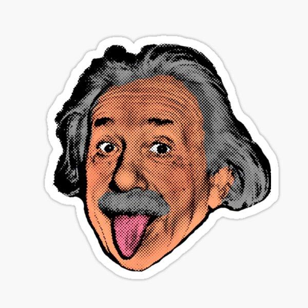 Einstein Pop Art Head Sticker