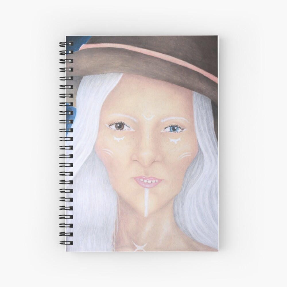 Wiccan witch portrait nr. 1 Spiral Notebook