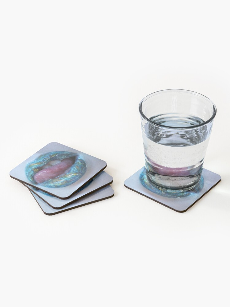 Alternate view of Earth lipart statement piece Coasters (Set of 4)