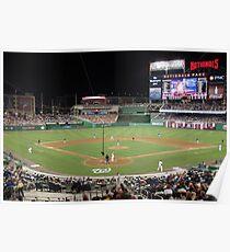 Washington Nationals Baseball Ballpark Poster