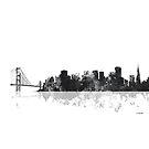 Skyline von San Francisco, Kalifornien - B & W von Marlene Watson