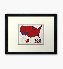 2016 Election Results Framed Print