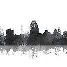 Skyline von San Antonio, Texas - B & W von Marlene Watson
