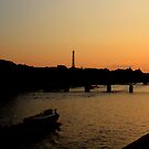 Sunset over the Seine (Paris) by Christine Oakley